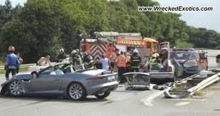 new jaguar f type crashed in belgium