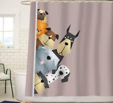 animal print shower curtain ebay