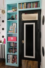 Bookcase Closet Doors Black Bookcase Design Ideas