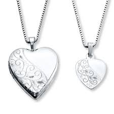 necklace for mothers necklaces heart with swirls sterling silver