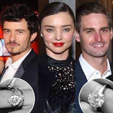 a tale of two diamonds comparing miranda kerr s new and - Miranda Kerr Engagement Ring