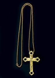 pectoral crosses pectoral cross with chain style sbats013 g b royal blue stones