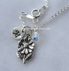 sterling silver personalized jewelry flower girl necklace sterling silver personalized flower