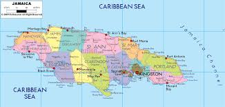 jamaica physical map detailed political map of jamaica ezilon maps
