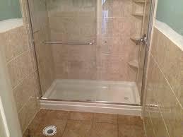 bathroom adorable high quality bath remodel using rebath costs mesmerizing ceramic floor with single drainhole plus attractive shower glass doors rebath costs