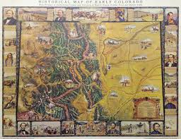 Cu Boulder Map Historical Map Of Early Colorado