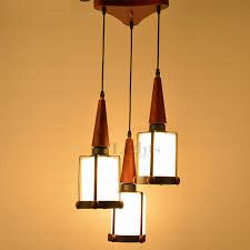 Multi Pendant Light Three Light Retro And Rustic Wooden Multi Pendant Lights