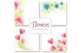 wedding floral card templates card templates creative market