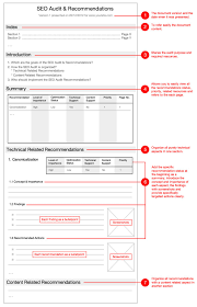 seo monthly report template audit form template 37 brilliant audit report format exles 38
