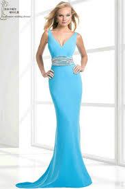 Light Blue Mermaid Dress Turmec Light Blue Strapless Long Dress