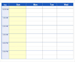 Study Schedule Template Excel Weekly Schedule Template Bill Payment Schedule Template Free