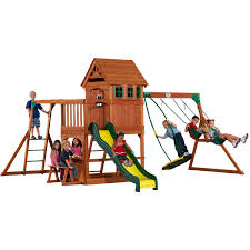 backyard discovery montpelier cedar wooden swing set home