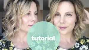 wand curl styles for short hair tutorial how to curl short hair beachy waves with nume 25mm