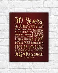 30th wedding anniversary gift ideas gift ideas 30th wedding anniversary imbusy for