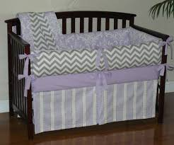 Gray Baby Crib Bedding Lilac Osborne Damask Grey Chevron Custom Baby Crib Bedding