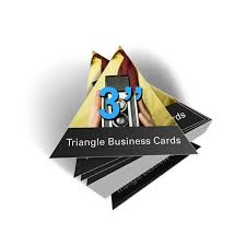 Cool Shaped Business Cards Triangle Shaped Business Cards Google Search Cool Artistic