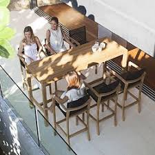 Patio Bar Height Table And Chairs outdoor patio bar height table tables counter modern