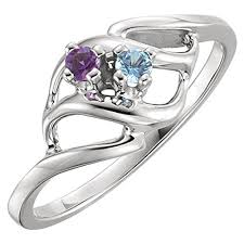 mothers rings white gold ring styles mothers ring 2 3 4 or 5 birthstones 10k white or
