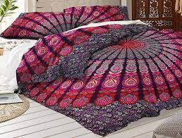 magical night bohemian quilt cover queen duvet cover set with pillows