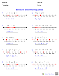 compound inequalities worksheets math aids com pinterest