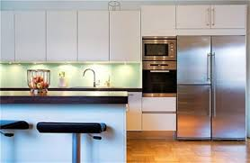 modern white nuance of the modern apartment kitchen design can be