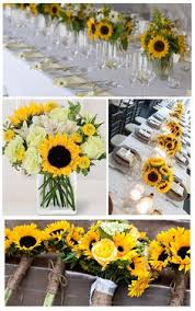 Sunflower Wedding Centerpieces by The Bascom Rehearsal Dinner By Olivia Griffin Photography Walton