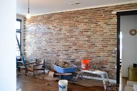 interior brick veneer home depot installing brick veneer inside your home vintage revivals