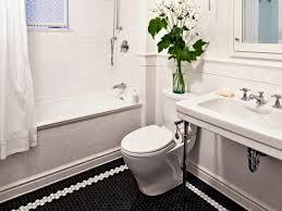 vintage black and white bathroom ideas decoration black and white hexagon tile floor black and white