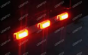 orange led light bar trunk tailgate red led light bar for tail brake light functions