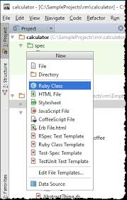 creating files from templates help rubymine
