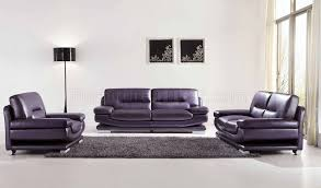 Living Room With Purple Sofa 2757 Leather Purple Sofa By Esf W Optional Loveseat Chair