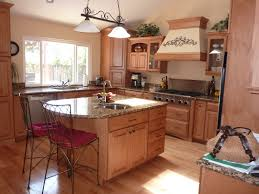 l shape kitchen plan design with brown wooden cabinet and small