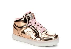 skechers led light up shoes rose gold skechers girls energy lights athletic rack room shoes
