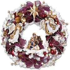 kinkade blessings illuminated wreath