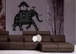 large decorated indian elephant wall decal wall art