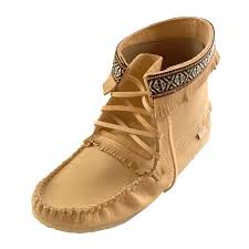 Moccasins Men U0027s Tan Real Moose Hide Leather Ankle Moccasin Boots With Crepe