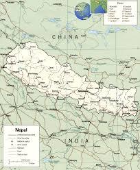 Himalayan Mountains Map Map Of Nepal Nepal Travel Map Nepal Political Map