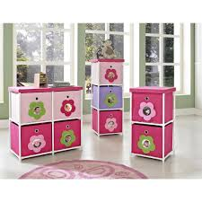 Altra Home Decor Altra Kids Bin Canvas Storage Unit Pink With Flower Theme Idolza