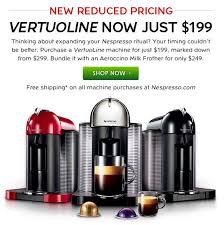 nespresso deals black friday nespresso lower price on vertuoline machines to 199