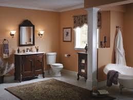French Bathroom Decor by Dark French Country Bathroom With Beige Wall Paint And Hardwood