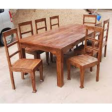 Rustic  Person Large Kitchen Dining Table Solid Wood  Pc Chair - Rustic wood kitchen tables
