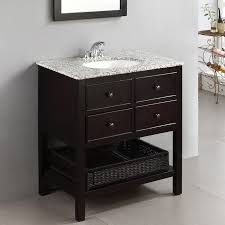 40 Inch Bathroom Vanities by Bathroom 40 Inch Black Oak Single Bathroom Vanity Emperia For