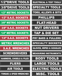 toolbox labels peel u0026 stick organize all tool boxes storage chest