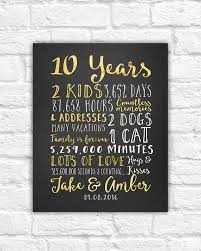 10 year wedding anniversary gift wedding anniversary gifts for him paper canvas 10 year
