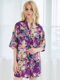 bridesmaid pajama sets new arrival satin floral bridesmaid pajama sets and chiffon floral