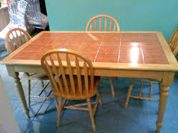 tile top dining room tables round kitchen table with ceramic tile top kitchen tables