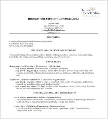 exle resume format college scholarship resume format high school template free word