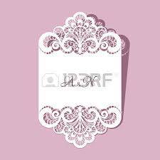 Wedding Announcement Template Elegant Greeting Card Or Wedding Invitation Template With Lace
