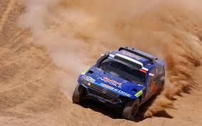 volkswagen dakar volkswagen touareg blue dakar rally front sand dune desert to