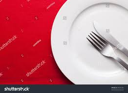 Kitchen Forks And Knives by White Empty Plate Fork Knife On Stock Photo 93037330 Shutterstock